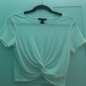 Scrunched up soft tee